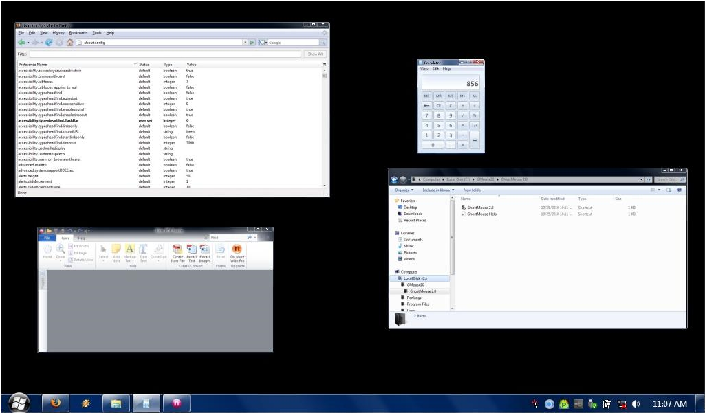 GiMeSpace Desktop Extender 3D, Desktop Space Software Screenshot