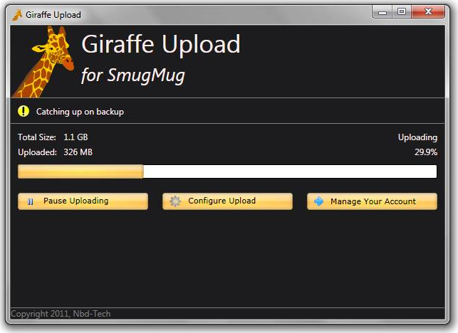 Giraffe Upload Screenshot
