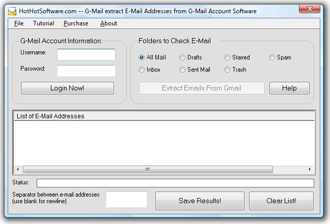 Gmail Extract Screenshot