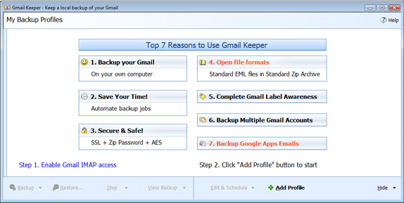 Gmail Keeper Screenshot