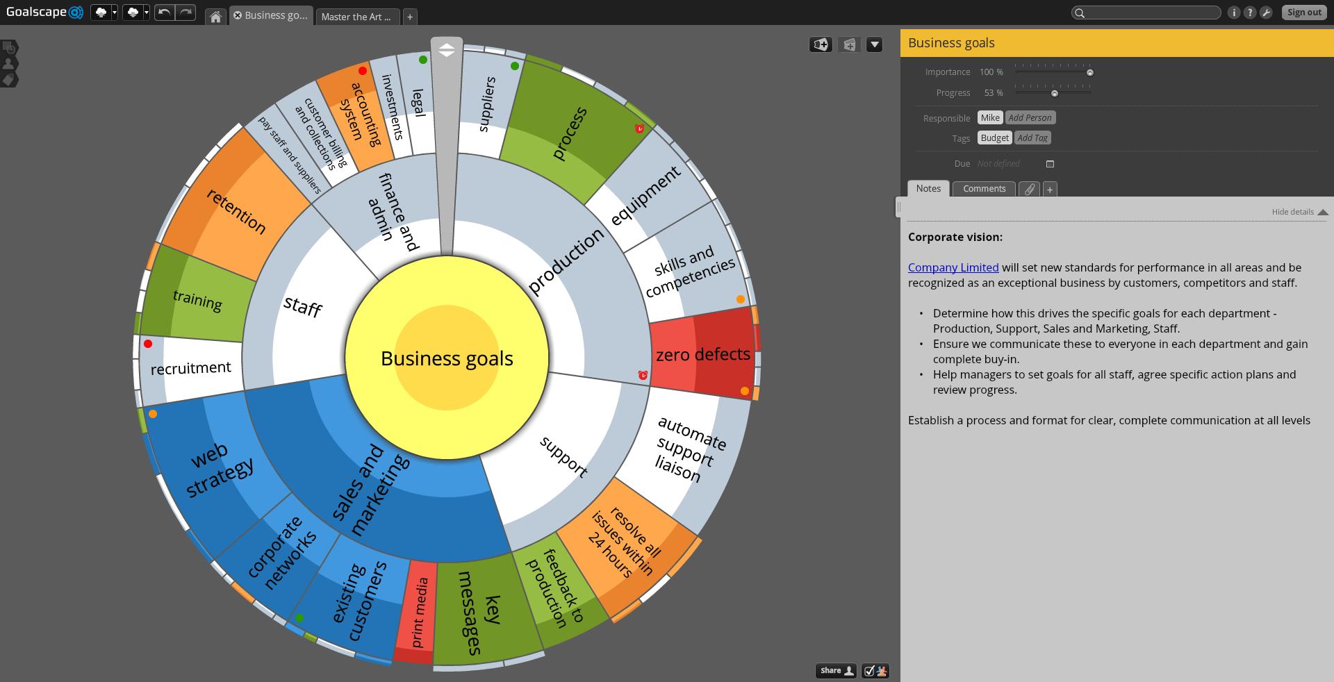 Goalscape Desktop and Goalscape Online Unlimited Screenshot