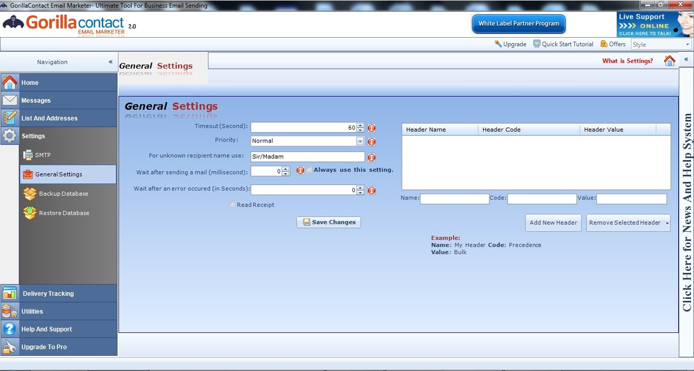 Internet Software, GorillaContact White Label Email Marketing Software Screenshot