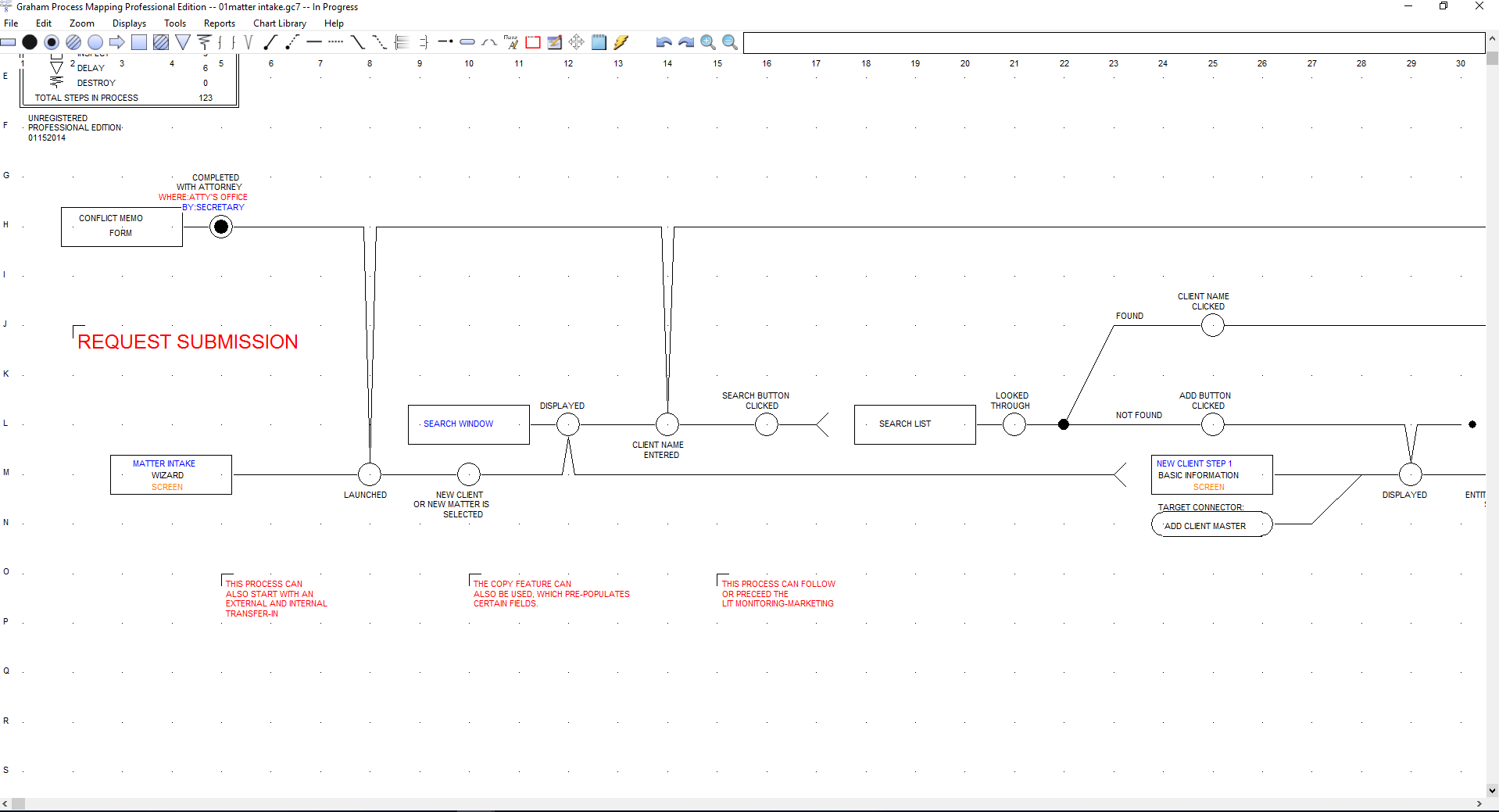 Graham Process Mapping Starter Edition, Business Mind Mapping Software Screenshot