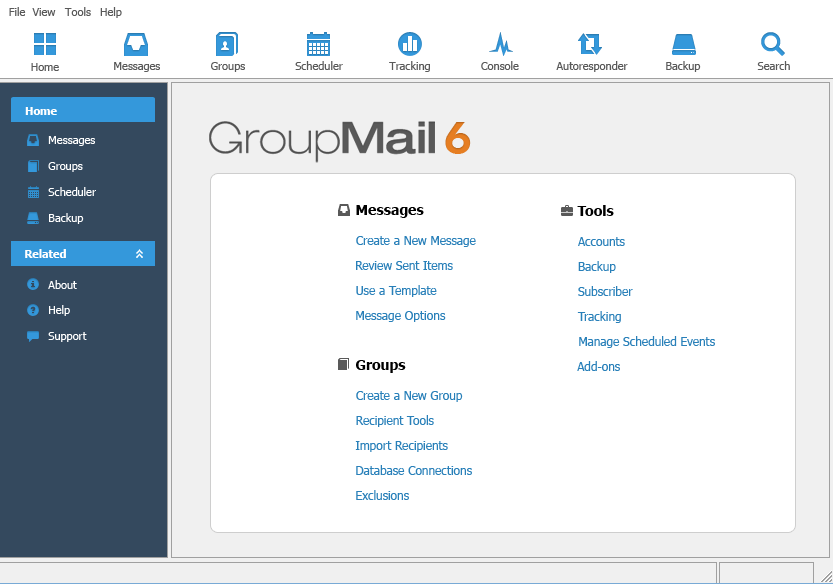 GroupMail Personal Edition Screenshot