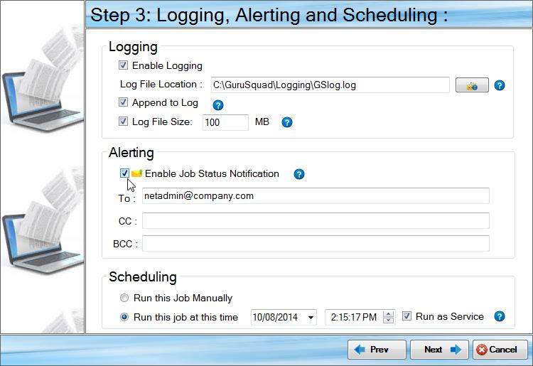 Files and Folders Software, GS RichCopy 360 Standard Screenshot