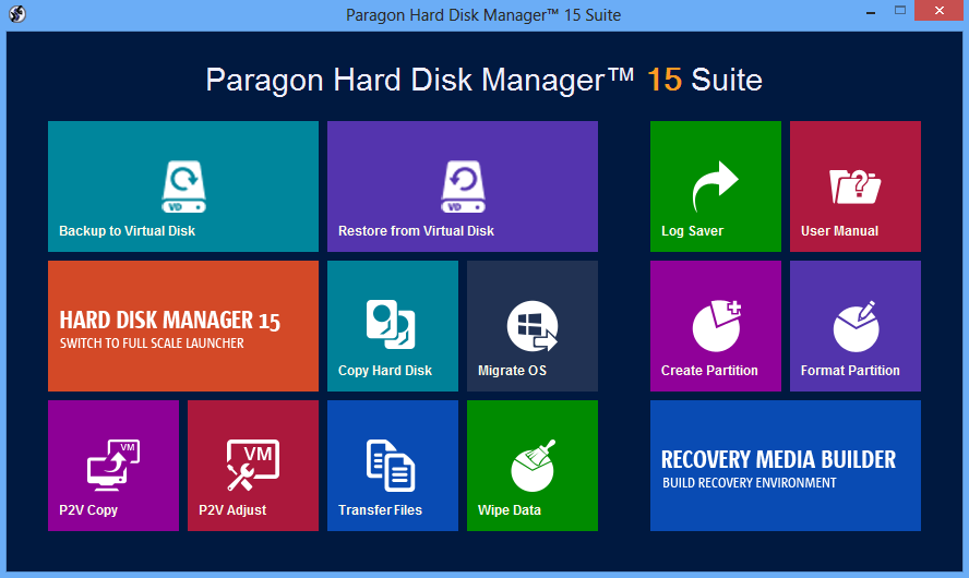 Hard Disk Manager 15 Suite Screenshot