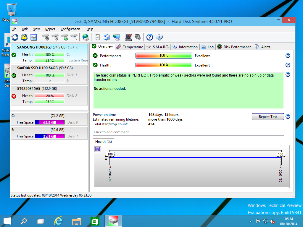 Hard Disk Sentinel Standard Edition Screenshot 13