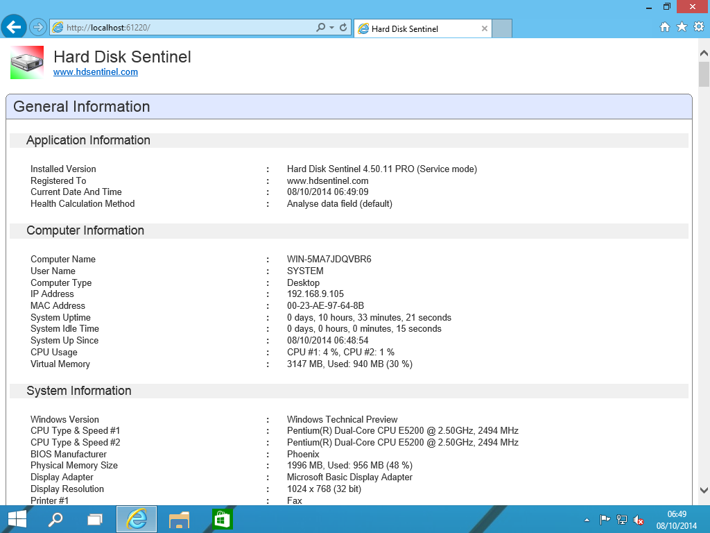 Hard Disk Sentinel Professional Family License Screenshot 8