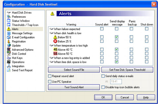 Hard Disk Sentinel Standard Edition, Software Utilities Screenshot