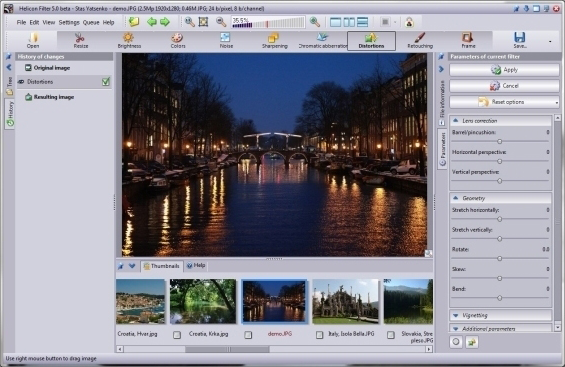 Helicon Filter, Design, Photo & Graphics Software Screenshot