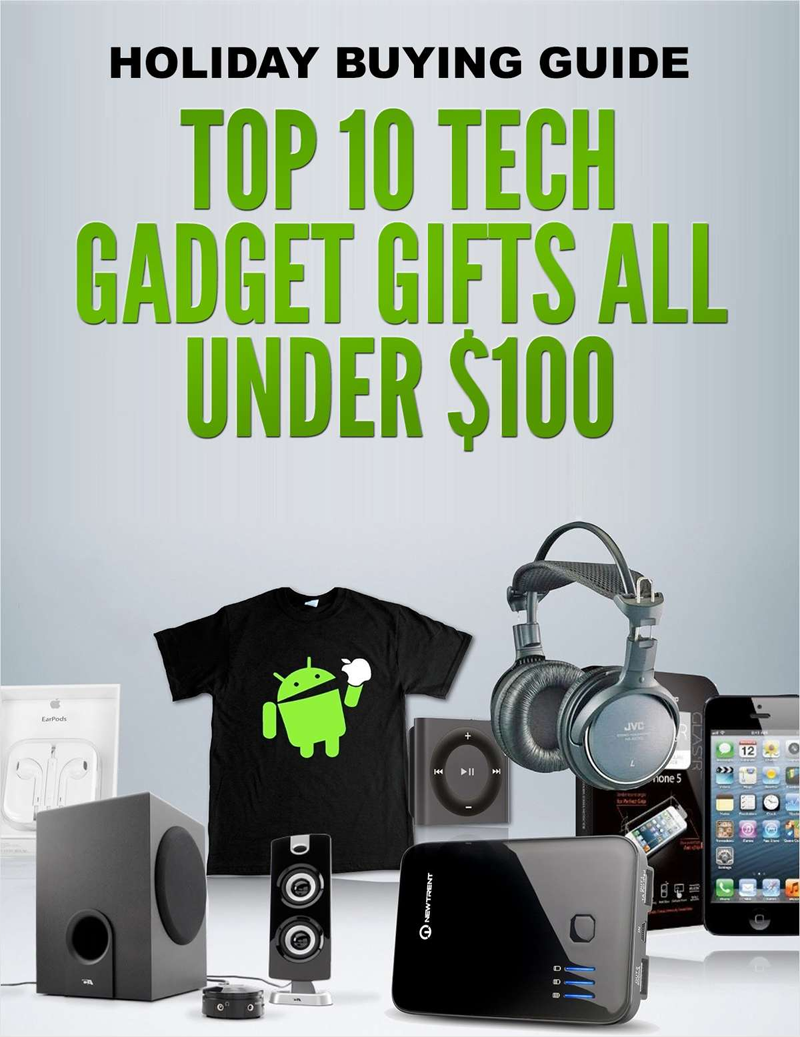 Holiday Buying Guide - Top 10 Tech Gadget Gifts All Under $100 Screenshot