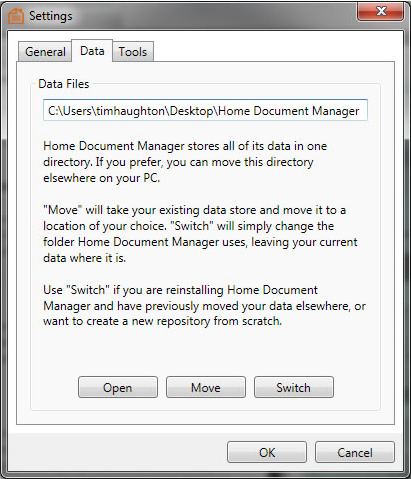 Home Document Manager, Business & Finance Software Screenshot