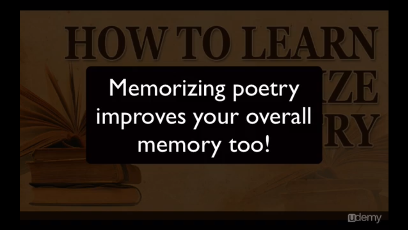 Learning and Courses Software, How to Learn and Memorize Poetry Screenshot
