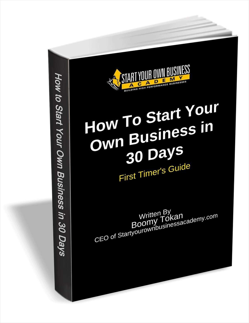 How To Start Your Own Business in 30 Days - First Timer's Guide Screenshot