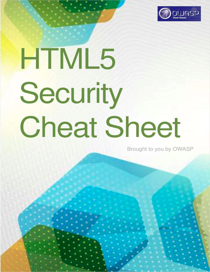 HTML5 Security Cheat Sheet Screenshot