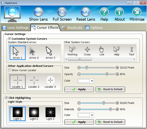 HyperLens, Presentation Software Screenshot