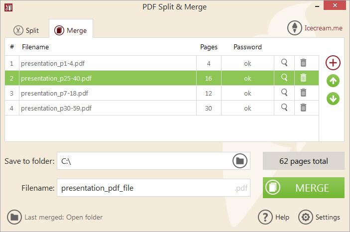 Icecream PDF Split & Merge PRO, PDF Utilities Software Screenshot