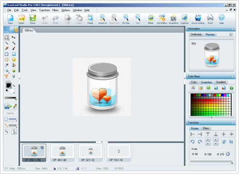 Graphic Design Software Screenshot