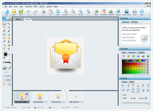 IconCool Studio Pro Screenshot