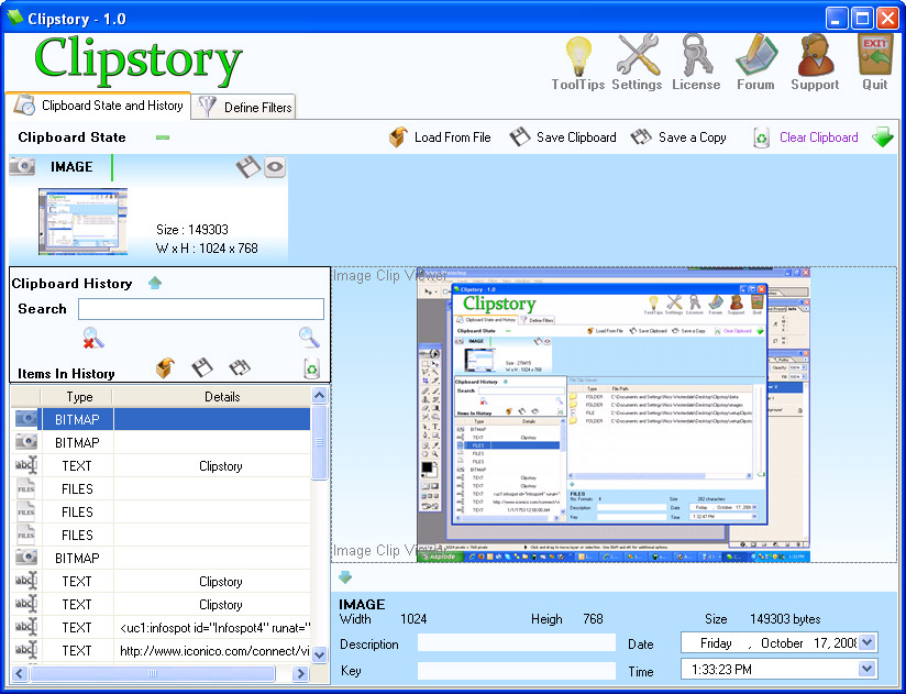 Software Utilities, Iconico Desktop Tools A La Carte Screenshot