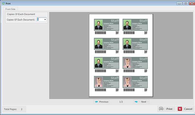 Business Management Software, ID Card Workshop - Single User Full License Screenshot