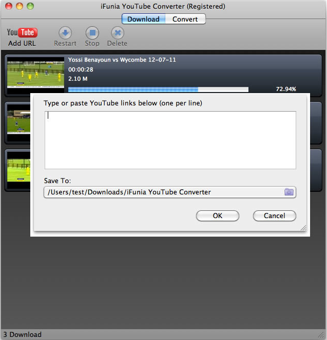 iFunia YouTube Converter for Mac Screenshot