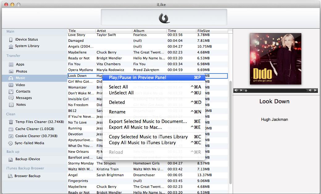 iLike, Software Utilities Screenshot