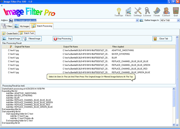 Design, Photo & Graphics Software, Image Filter Pro 100 Screenshot