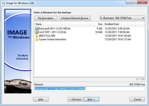 Image for Windows, Access Restriction Software Screenshot
