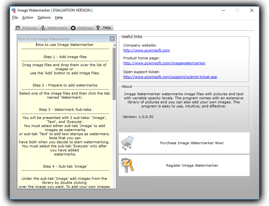 Image Watermarker, Design, Photo & Graphics Software Screenshot