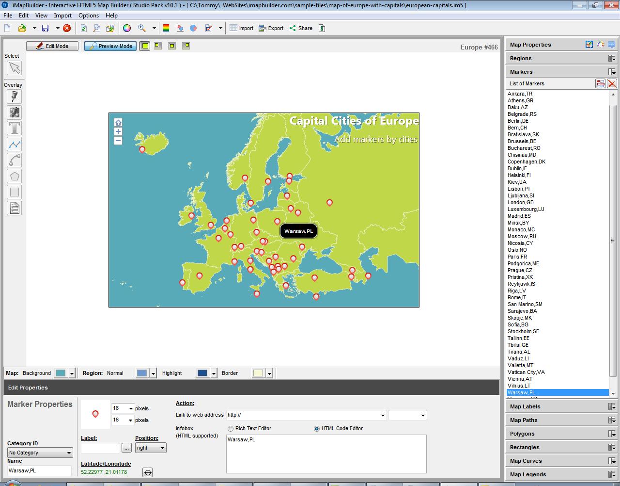 imapbuilder interactive html map builder screenshot presentation softwarescreenshot . imapbuilder interactive html map builder presentation software