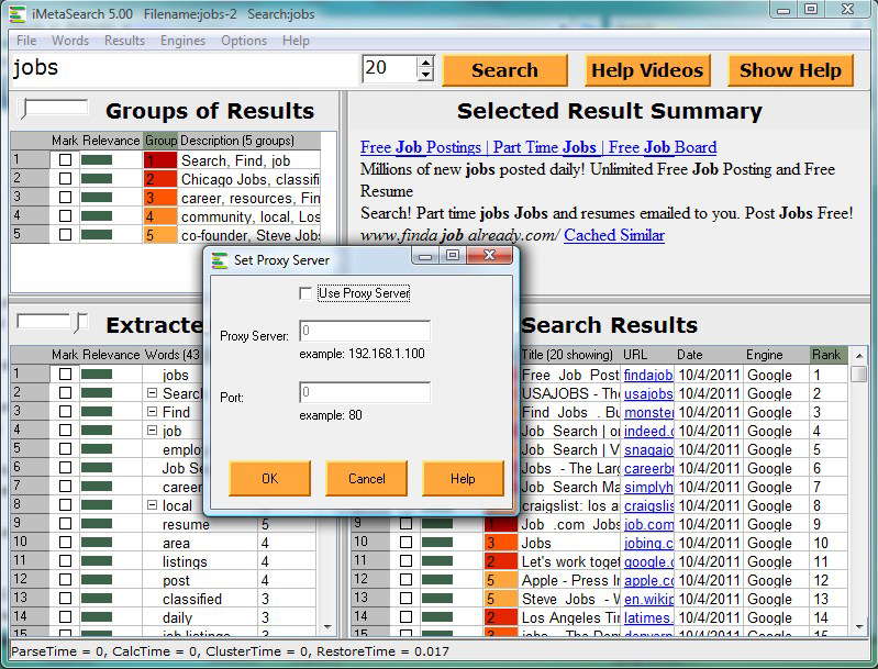 iMetaSearch Pro, Internet Software Screenshot