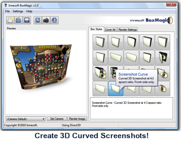 Innesoft BoxMagic, Design, Photo & Graphics Software Screenshot