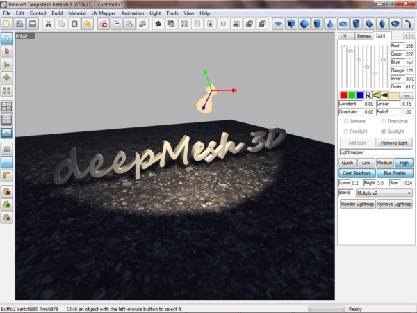 deepMesh, Design, Photo & Graphics Software Screenshot
