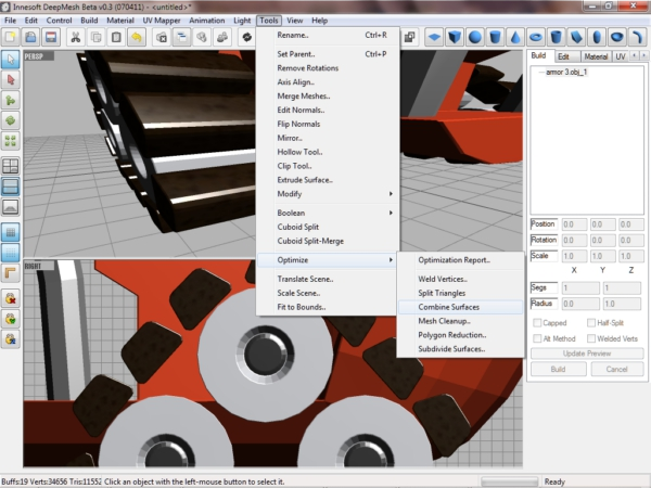 deepMesh, Graphic Design Software Screenshot