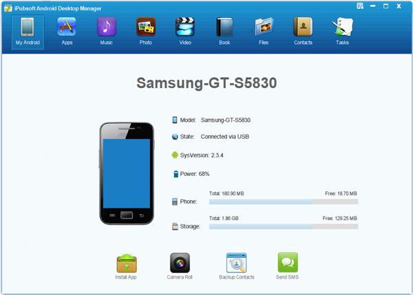 iPubsoft Android Desktop Manager Screenshot