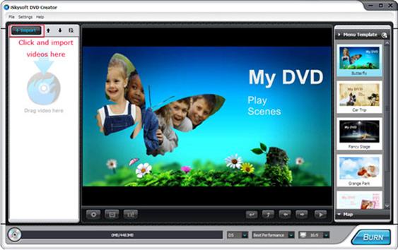 iSkysoft DVD Creator Screenshot