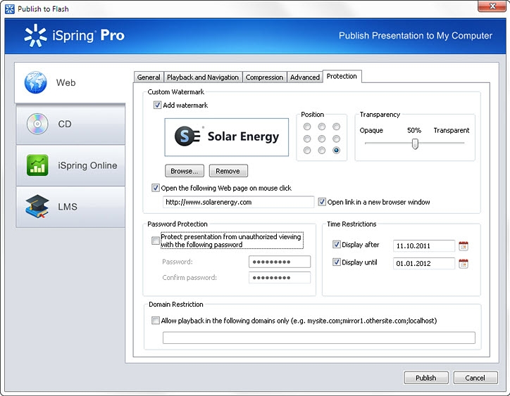 iSpring Pro 6, Document Conversion Software Screenshot