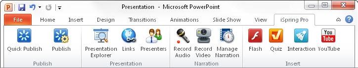 iSpring Pro 6 Screenshot
