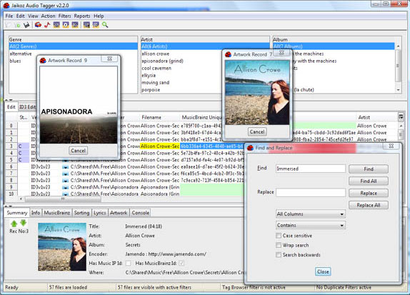 MP3 Tag Editing Software Screenshot