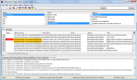 Audio Software, MP3 Tag Editing Software Screenshot
