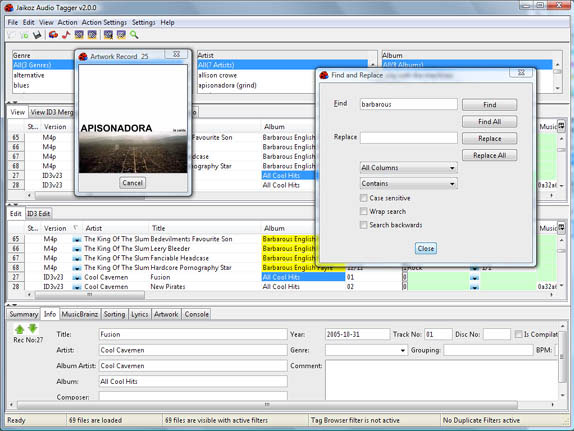 Jaikoz Audio Tagger Screenshot