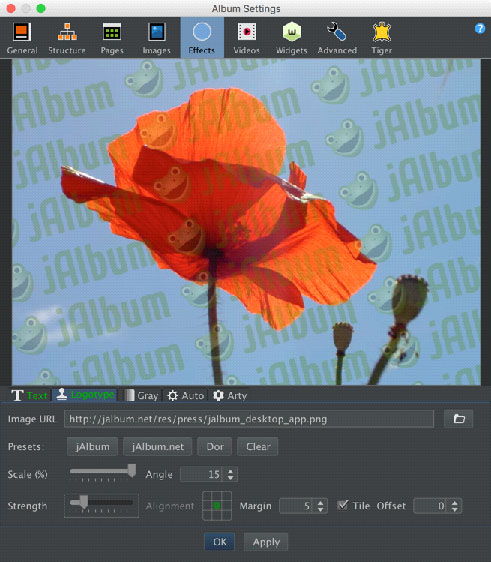 jAlbum, Web Slideshow Software Screenshot