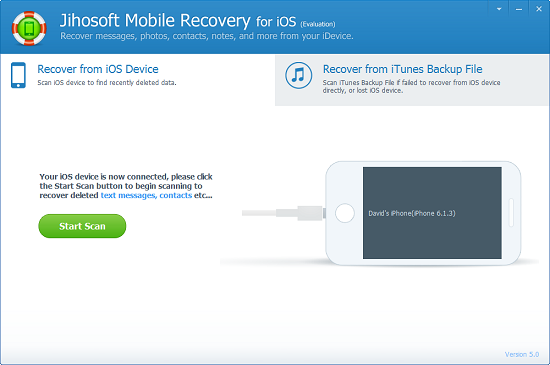 Jihosoft Mobile Recovery for iOS Screenshot
