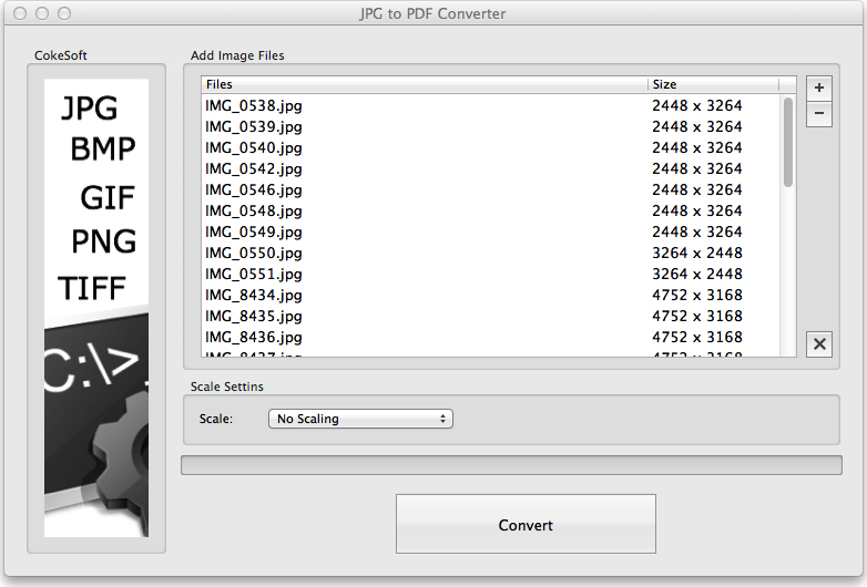JPG to PDF Converter for Mac Screenshot