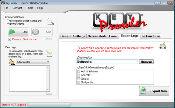 KeyProwler Monitor Pro Screenshot