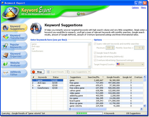 Keyword Expert Screenshot
