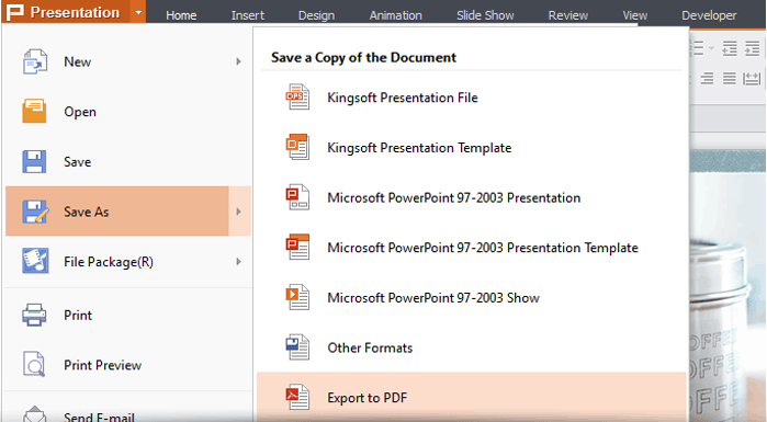 Kingsoft Office Suite Professional 2013 (One Year) Screenshot