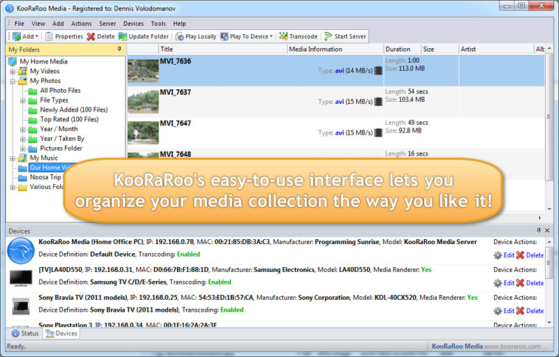 KooRaRoo Media Screenshot