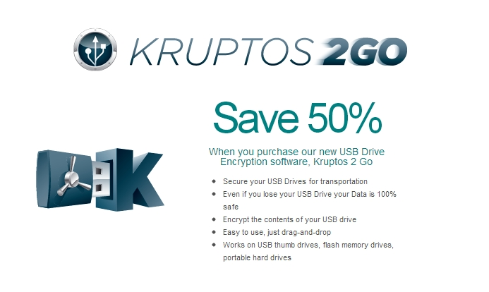 Kruptos 2 Go - USB Vault Screenshot